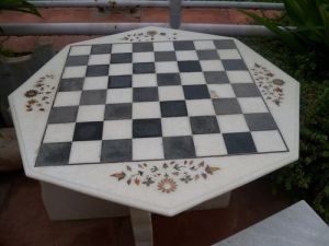 Marble Inlay Board, Agra