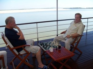 Gary and Dewain on the Irrawaddy River